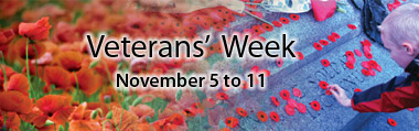 Veterans' Week November 5 to 11